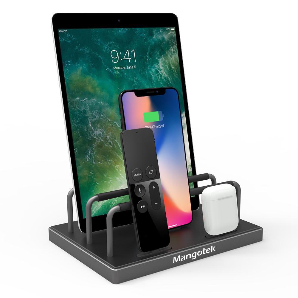 iPhone iPad ライトニング 充電 スタンド 4ポート搭載 Mangotek